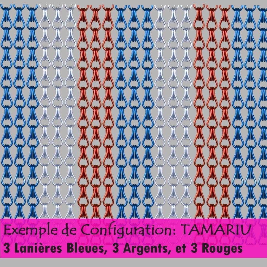 Rideau en chaînette d\'alu personnalisable jusqu\'à 6 couleurs!!!