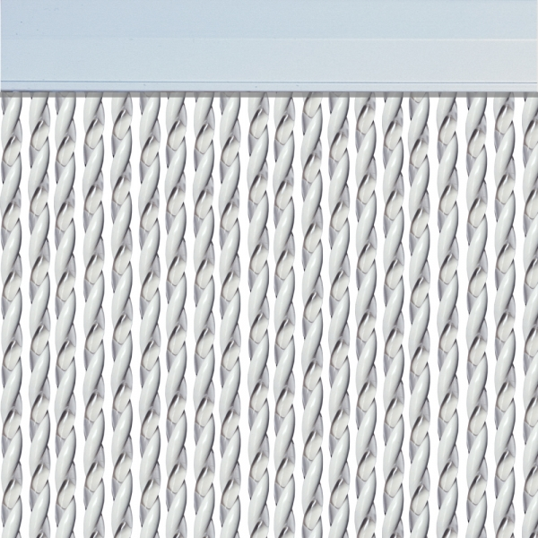 Rideau de porte Mar Cristal/Blanc