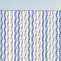 Rideau de porte Mar Bleu Ciel Blanc