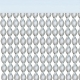 Rideau de porte Garbi Cristal/Blanc