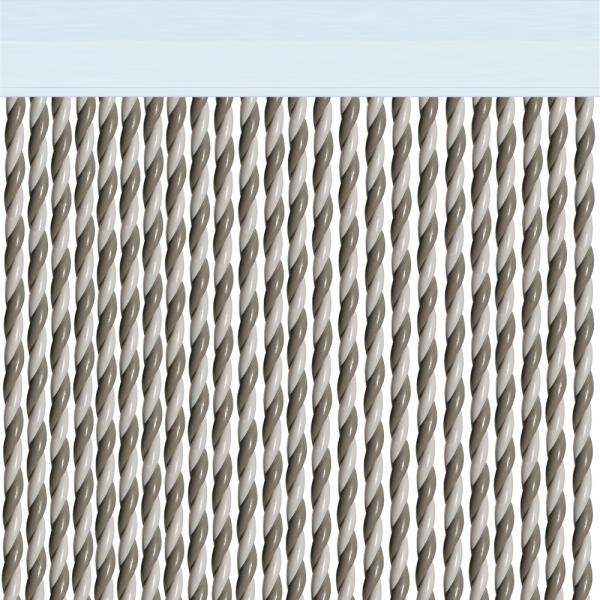 Rideau de porte Mar Blanc/gris