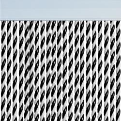 Rideau de porte Mar Blanc et Noir